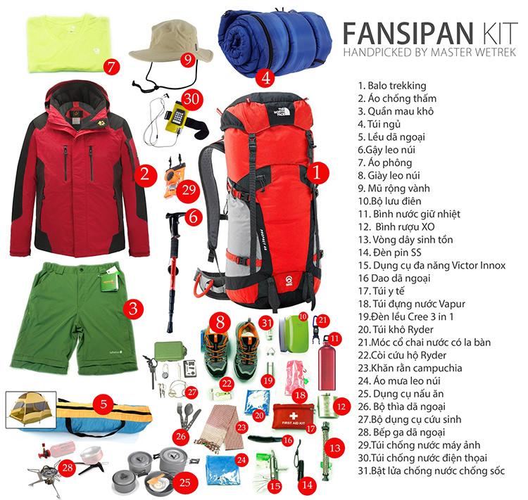 Danh sách đồ dùng mà người leo núi cần