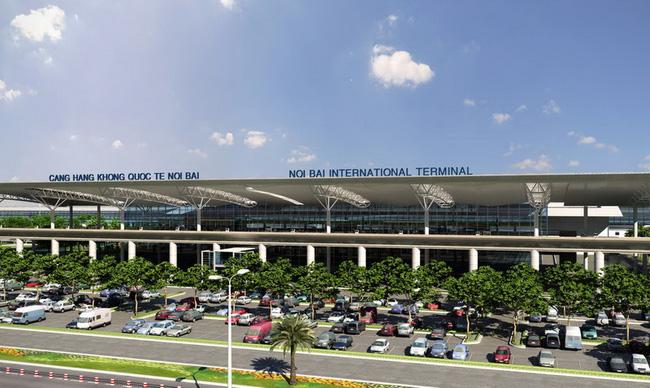 Xe đón hành khách từ sân bay về Hà Nội